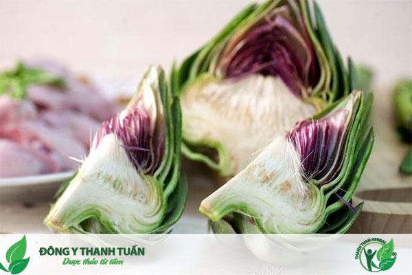 Atiso là một trong những loại rau củ quả mà người gan nhiễm mỡ nên ăn