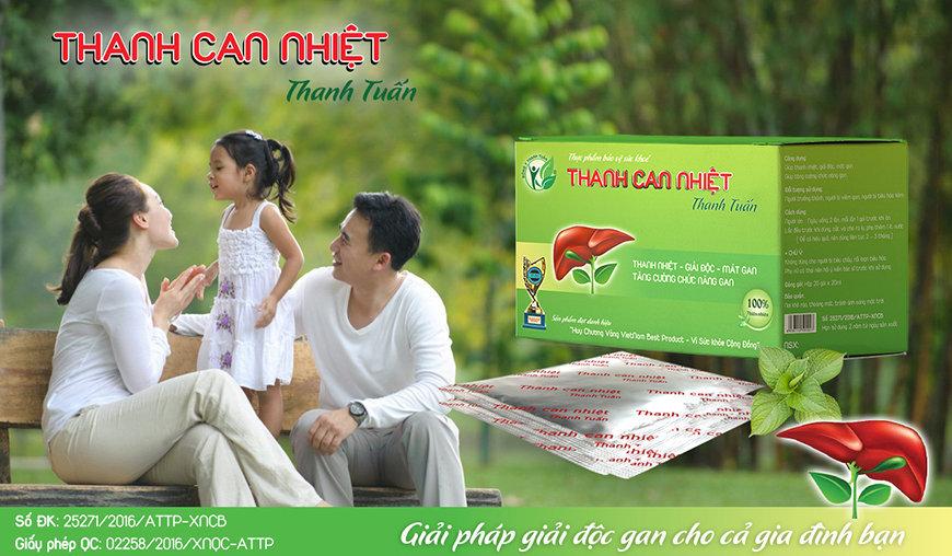 Thanh Can Nhiệt Thanh Tuấn với thành phần Atiso có công dụng thanh nhiệt, giải độc, mát gan