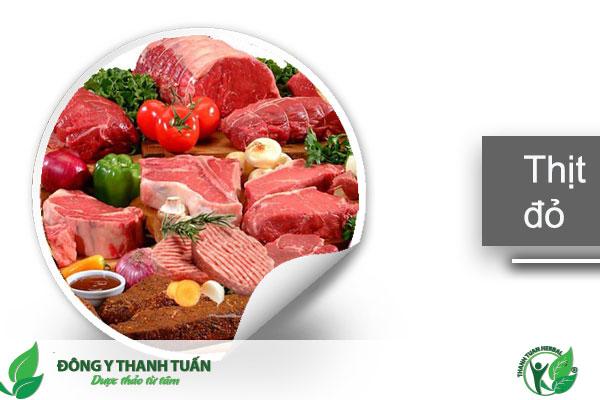 Gan nhiễm mỡ không nên ăn nhiều thịt