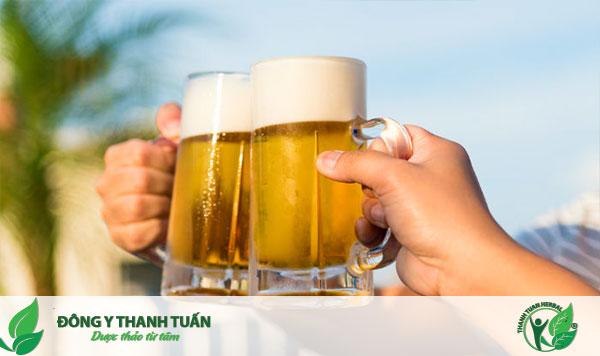 Không sử dụng rượu bia và chất kích thích khi bị gan nhiễm mỡ