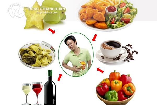 Thức ăn dầu mỡ, chiên xào và nước uống có gas là nguyên nhân gây đau dạ dày