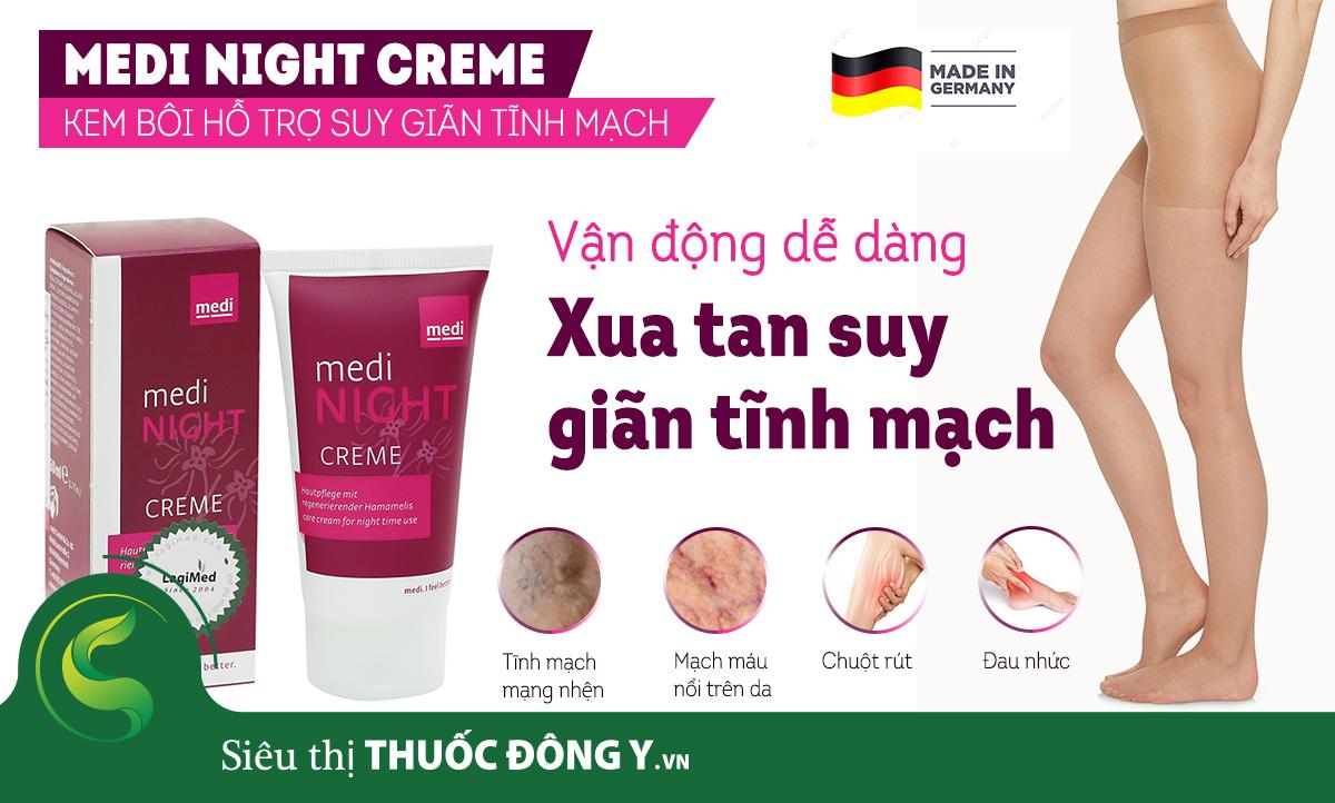 Kem chống giãn tĩnh mạch Medi Night Creme 50ml